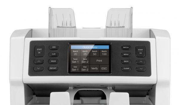 Safescan SC-2985-sx เครื่องนับธนบัตร หน้าจอระบบสัมผัส ใช้งานง่าย