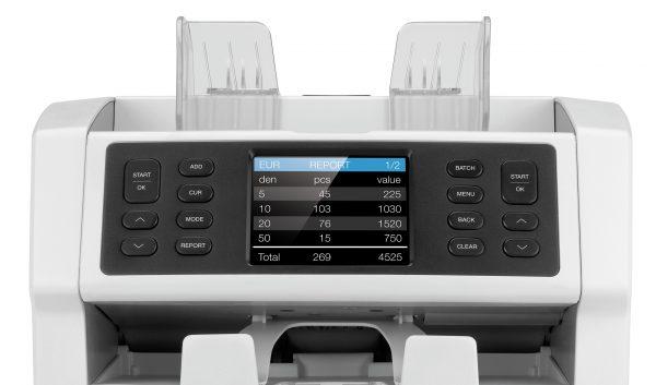 Safescan SC-2985-sx เครื่องนับธนบัตร หน้ารายงานแสดงผลการนับ
